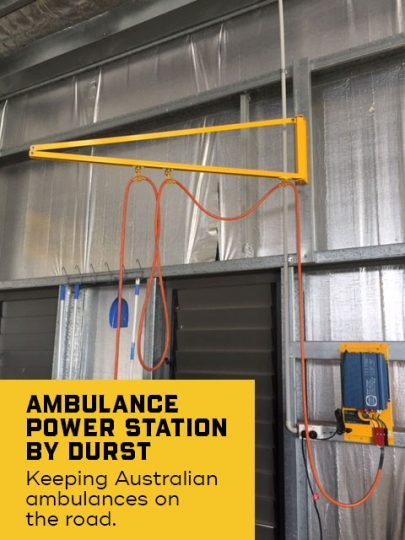 Bega Ambulance Power Bay, vehicle electric charging bay design and installed by Durst