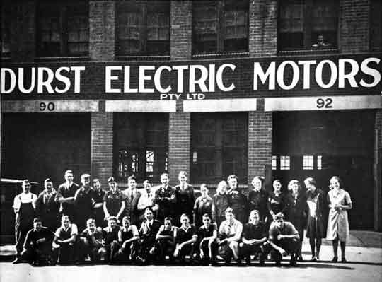 Historical photos of Durst Industries staff in Sydney