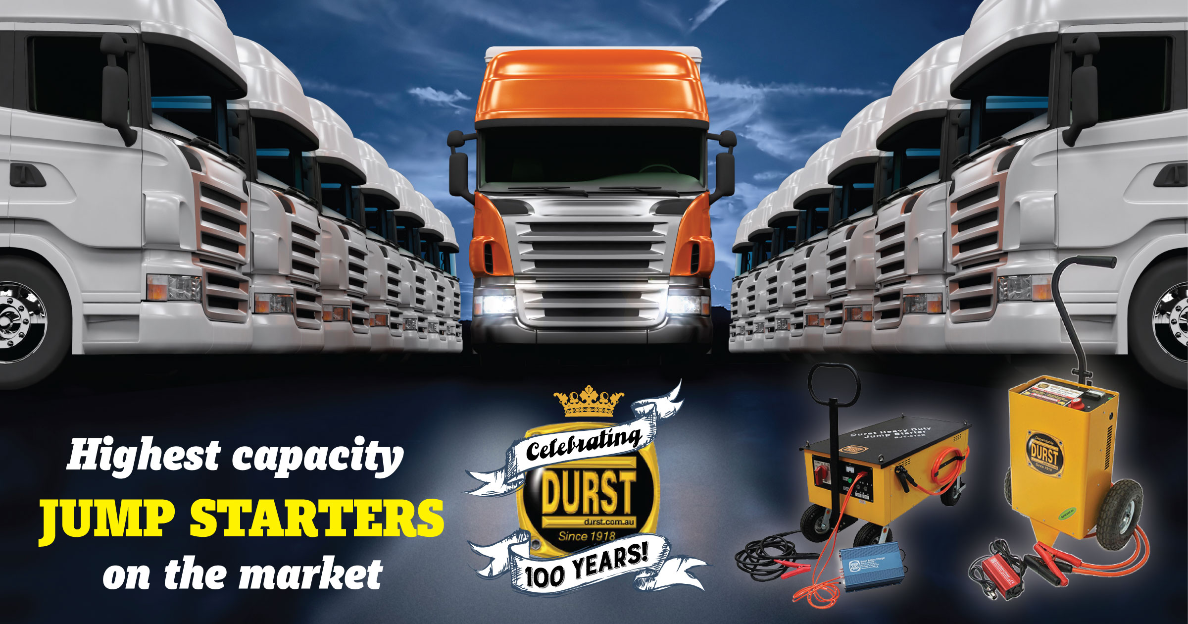 Durst supply highest capacity Jump Starter on the market for truck fleets